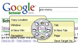 pie menu